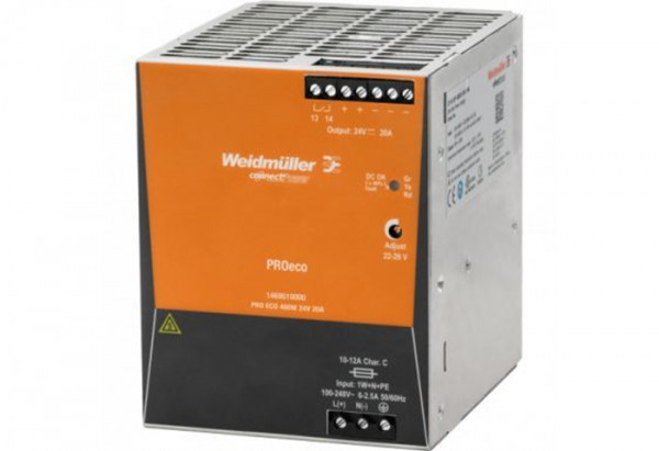 POWER SUPPLY DIN PS24 480W